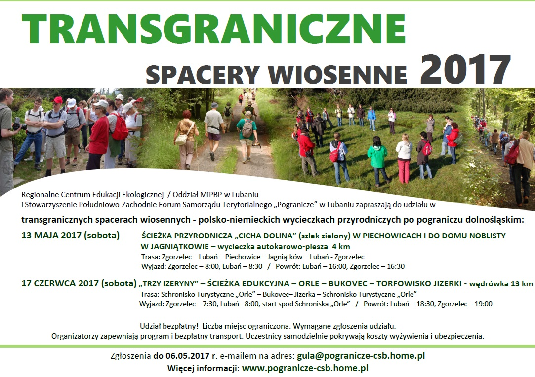 TRansgraniczn spacery wiosenne